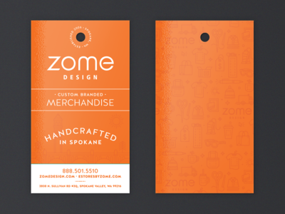 Zome hang tags by Lauren Brandt - Dribbble