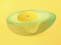 Sleepy avo-egg