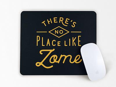 Zome mouse pad - 3 mouse pad gold washington spokane zome art design typography illustration