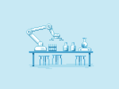 Laboratory in the pixel art