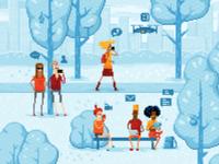 Pixel art park II