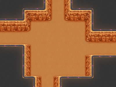 Canyon theme dungeon tileset tiles seamless dungeon canyon top-down rpg game artist game art game
