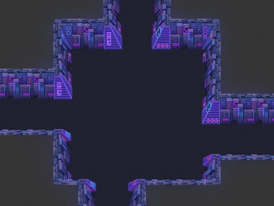 Sci-fi theme dungeon top-down sci-fi dungeon rpg seamless tileset tiles game artist game art game