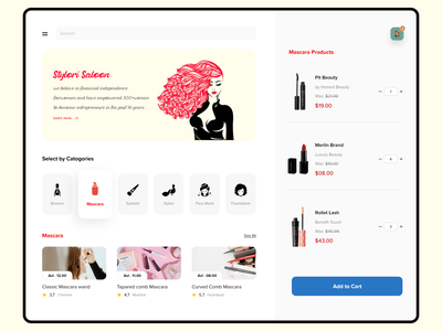 Beauty Saloon Website makeup buy sale profile product beauty product banner design branding banner catagory shopping add to cart ecommerce brand beauty