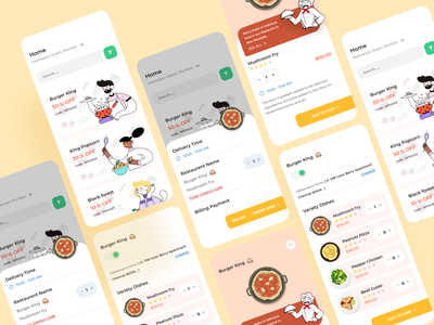 Food Delivery App Design apply code offers bill payment mobile app delivery app food app order now homepage nudge add to cart ui ux logo vector illustration branding ui dribbble design ios