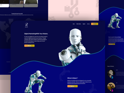 Types of Robots Product Design UI