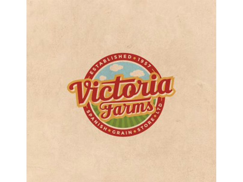 Victoria Farms creative agency toronto logo design toronto design best graphic designer toronto illustration typography custom logo design logo best logo designers toronto graphic design logo design toronto graphic design toronto a nerds world