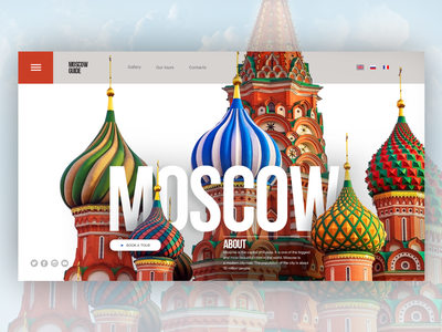 """Design for full screen """"Moscow guide"""" website webdesign web uxui uxdesign ux uidesign ui type moscow site moscow mobile illustration icon guide full screen desktop mainpage design site design"""
