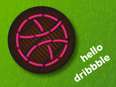 Hello Dribbble sausages vector hello