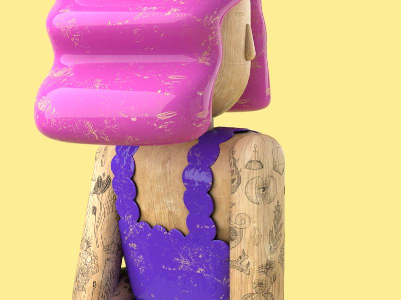 Fairy concept punk c4d render wood cg work illustration cinema4d design character 3d