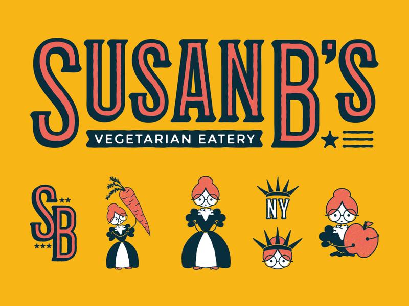 Susan B's Vegetarian Eatery (5/5) restaurant packaging branding adobe vector illustration graphicdesign design adobe illustrator
