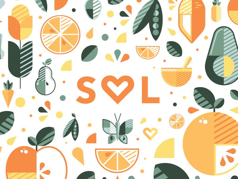 Sol Baby Food (1/4) target baby food retail packaging branding adobe vector illustration graphicdesign design adobe illustrator