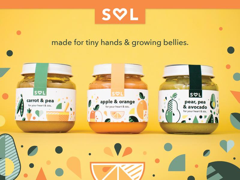 Sol Baby Food (2/4) target retail baby food packaging branding adobe vector illustration graphicdesign design adobe illustrator