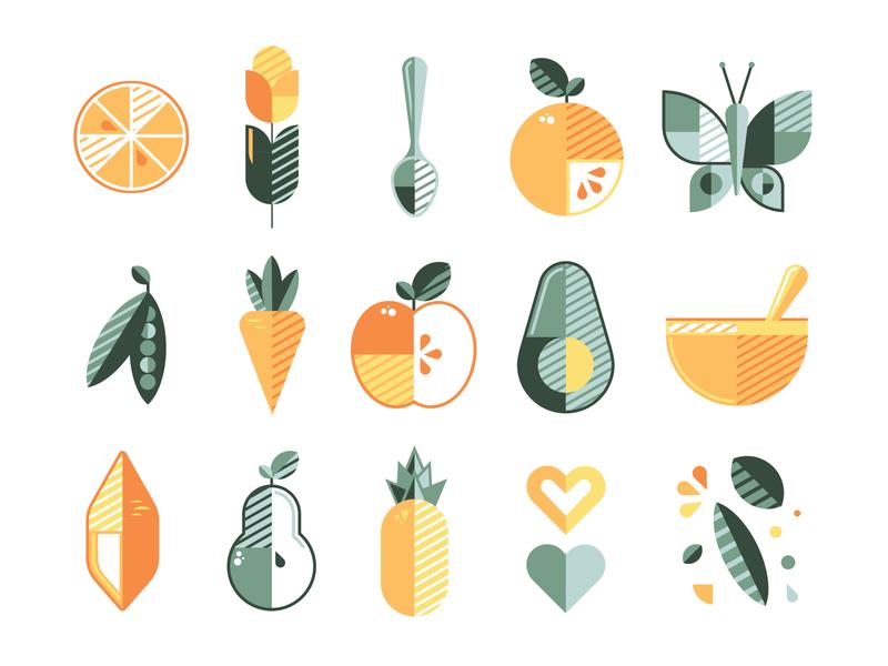 Sol Baby Food (3/4) target retail baby food packaging branding adobe vector illustration graphicdesign design adobe illustrator