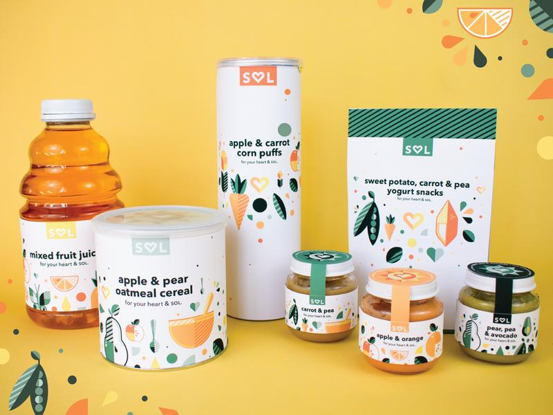 Sol Baby Food (4/4) target retail baby food branding adobe vector illustration graphicdesign design adobe illustrator