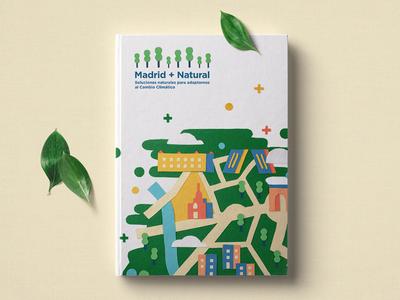 Madrid+Natural shapes vector scissors diy handmade felt flat illustration environment natural brand climate