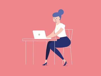 Hey babe marketing designer job work focused coworking working girl babe