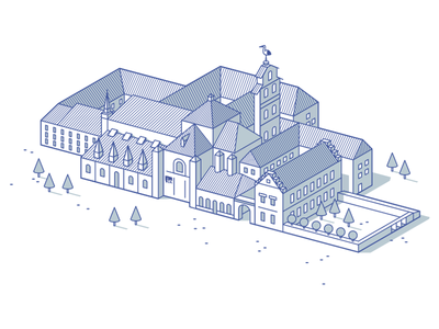 University Campus infographic campus building line vector icon illustration university ie