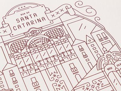 A love letter to Porto illustration vector line city love portugal porto