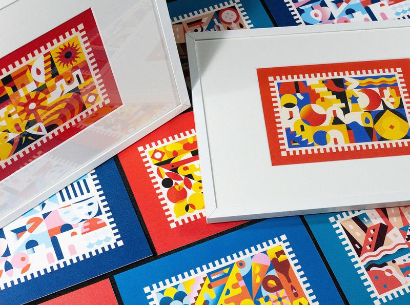 Mare Nostrum design bold modern minimal eastern african french spanish italian roman greek summer colorful illustration vector sea mediterranean