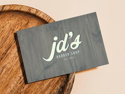 JD's Barber Shop Logo + Business Card