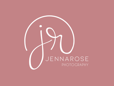 Jenna Rose Photography Logo typography logo design branding