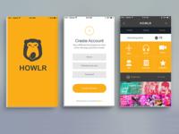 Howlr App Design