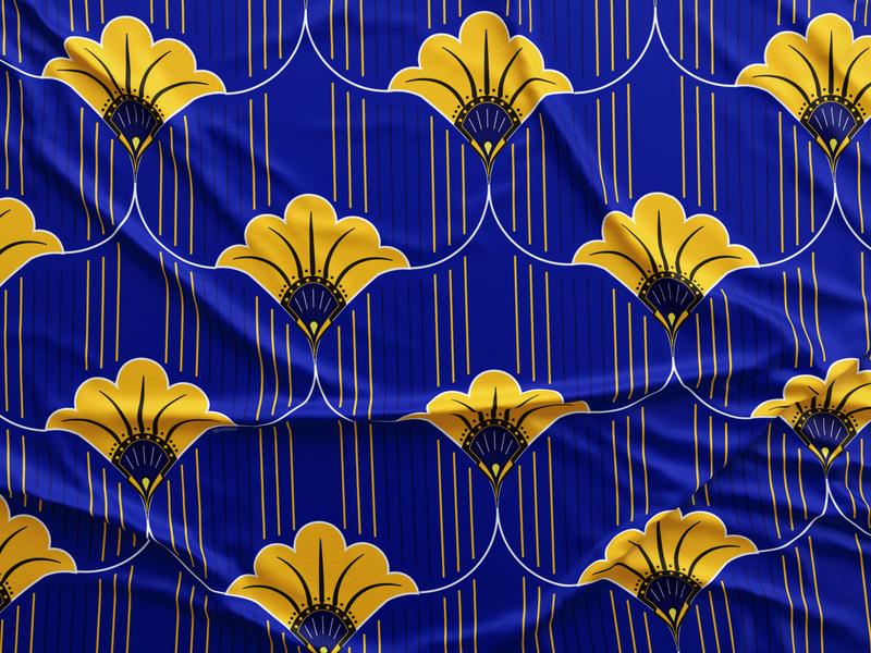 blue + yellow pattern
