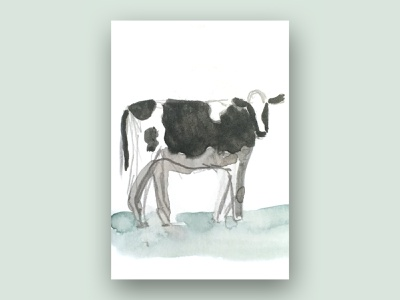 cow (from a farm animals series) kids illustration kids farm animal farmer farm cow pattern design pattern a day pattern contrast watercolour watercolor digital illustration digital art illustration drawing