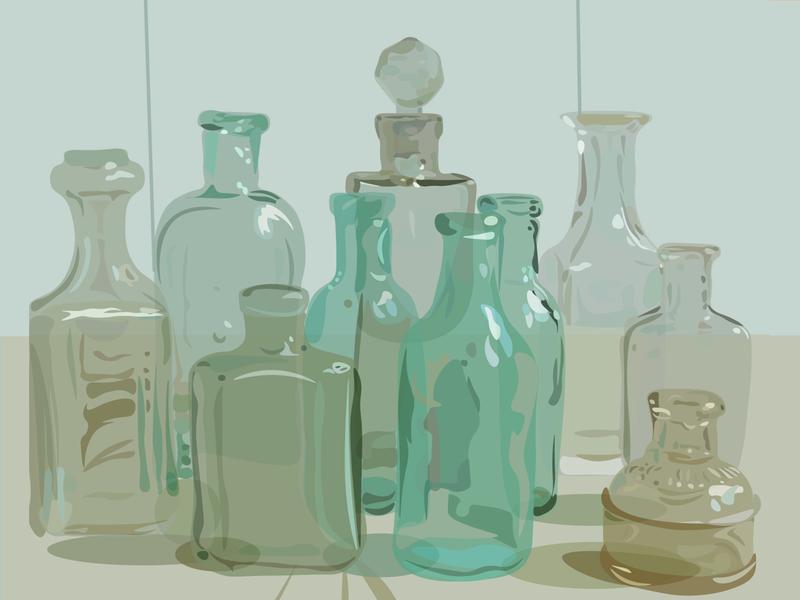 glassy reflections ivoly green transparency transparent glassy glass digital drawing contrast design digital illustration vector illustration drawing digital art
