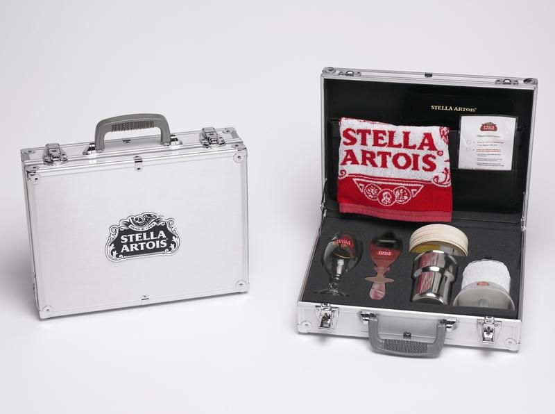 Stella Artois Training Case Gift Set by Sneller sneller creative promotions promotional packaging promotion presentation packaging packaging marketing made in usa custom packaging branding advertising