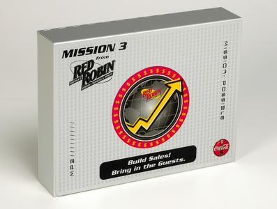 Red Robin Mission Training Kit by Sneller sneller creative promotions promotional packaging promotion presentation packaging packaging marketing made in usa custom packaging branding advertising