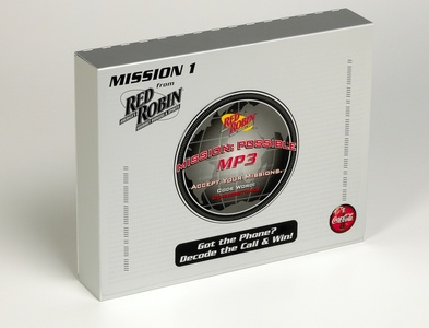 Red Robin Mission Sales Kit by Sneller sneller creative promotional packaging promotion presentation packaging packaging marketing made in usa custom packaging branding advertising