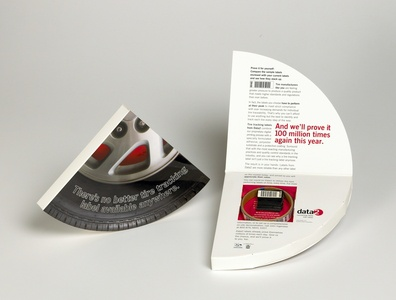 Tire Shape Cavity Box Direct Mail by Sneller sneller creative promotions promotional packaging promotion presentation packaging packaging marketing made in usa custom packaging branding advertising