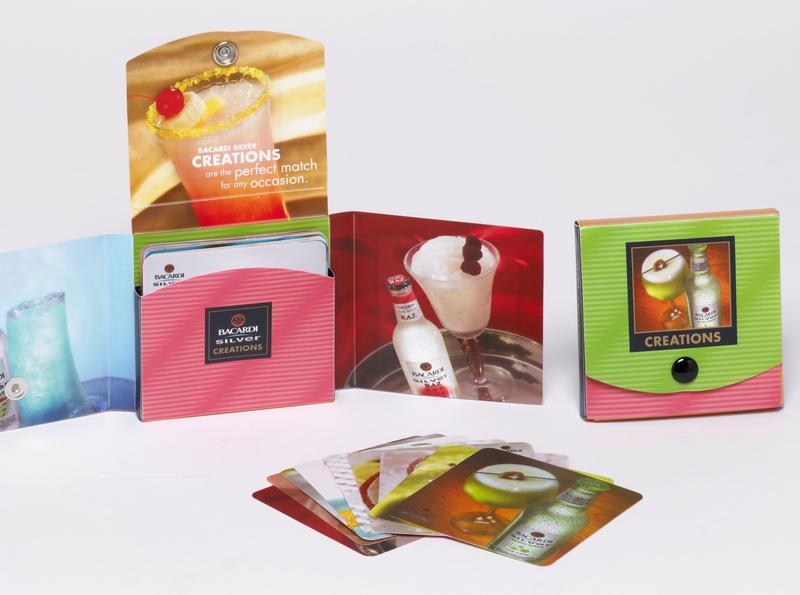 Drink Recipe Coaster Kit by Sneller sneller creative promotions promotional packaging promotion presentation packaging packaging marketing made in usa custom packaging branding advertising