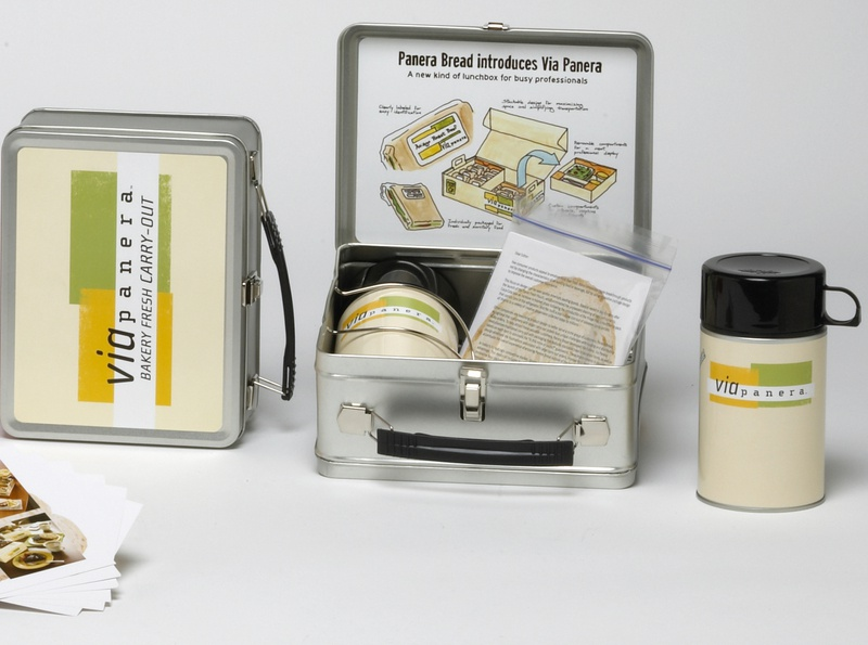 Panera Retro Lunchbox Press Kit by Sneller sneller creative promotions promotional packaging promotion presentation packaging packaging marketing made in usa custom packaging branding advertising