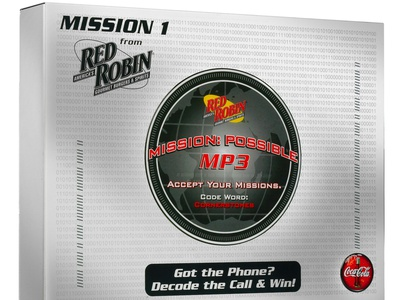 Red Robin Sales Kit Mission 1 by Sneller sneller creative promotions promotional packaging promotion presentation packaging packaging marketing made in usa custom packaging branding advertising