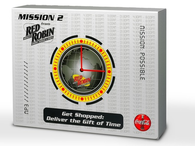 Red Robin Mission 2 Sales Kit by Sneller sneller creative promotions promotional packaging promotion presentation packaging packaging marketing made in usa custom packaging branding advertising