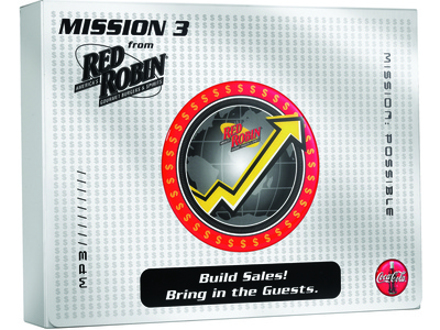 Red Robin Mission 3 Sales Kit by Sneller sneller creative promotions promotional packaging promotion presentation packaging packaging marketing made in usa custom packaging branding advertising