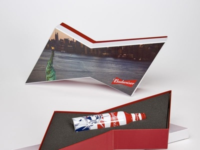 Budweiser Bow Tie Statue of Liberty Box by Sneller
