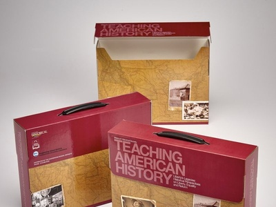 Teaching American History Custom Tote Boxes by Sneller