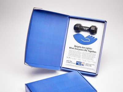 United Way Custom Direct Mail Boxes by Sneller