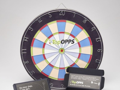 TopOpps Custom Dart Board  Darts  Promo Packaging by Sneller