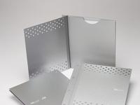 BioDiesel Metallic Look Custom Two Piece Presentation Binders