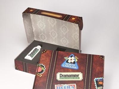Dramamine Custom Suitcase Marketing Kit Box  by Sneller