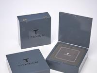 Titanium Custom Wood Box by Sneller