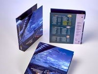 NASCAR Custom Ring Binder Marketing Materials by Sneller
