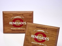 Renegades Custom Sponsorship Plaque by Sneller