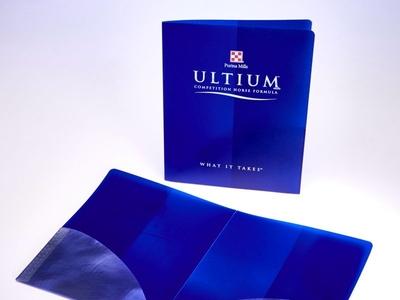 Ultium Custom Plastic Pocket Folder by Sneller