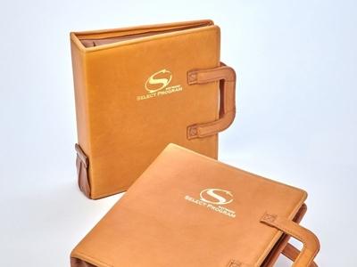 Hayward Custom Leather Handle Binders by Sneller